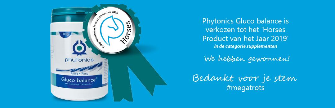 Gluco balance categorie winnaar Product van het jaar 2019