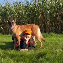 Katja Slippens is hondentrainster en samen met haar team Mechelse herders loopt ze menig Agility kampioenschap.