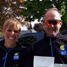 Pauline Zwaan en Ard van Dijk_PUUR Team Canicross_NML health